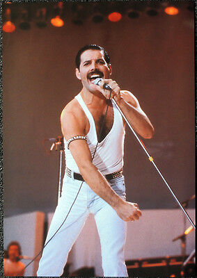 Queen Poster Page 1985 Live Aid Concert London Freddie Mercury R53