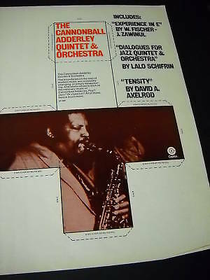 CANNONBALL ADDERLEY 1970 Promo Ad POP? JAZZ? CLASSICAL? David Axelrod ref.