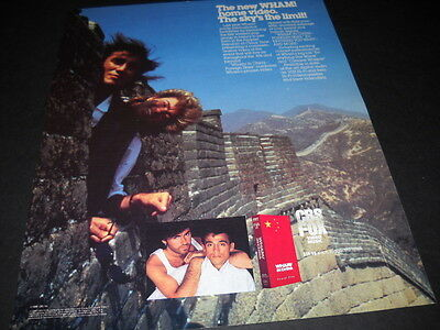 WHAM! 1986 Promo Poster Ad ..new video SKY IS THE LIMIT mint condition