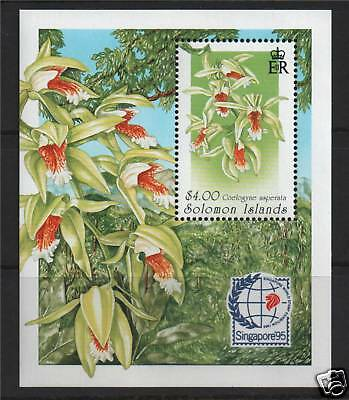 Solomon Is 1995 Orchids MS SG 841 MNH