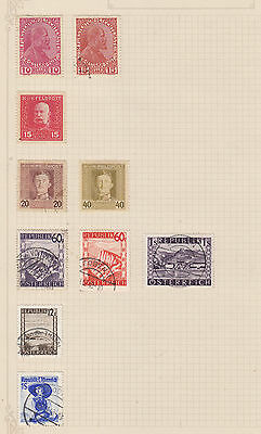 AUSTRIA/Leichenstein  Early Lot On Old Album page MINT/ FINE USED