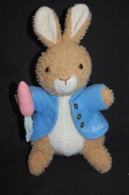 "Eden Peter Cottontail Bunny Rabbit Blue Carrot 13"" Plush Stuffed Animal Lovey"