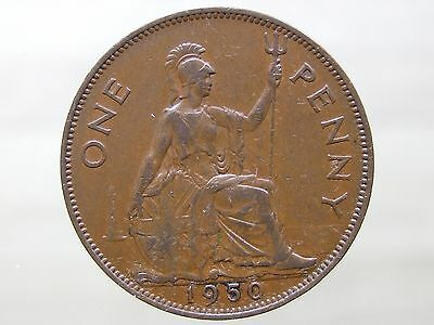 1950 British Penny, Nice Coin - RARE DATE -  FREE POSTAGE (A128)