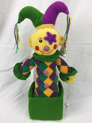 NWT Sugar Loaf Jack in the Box Mardi Gras Jester plush toy stuffed new
