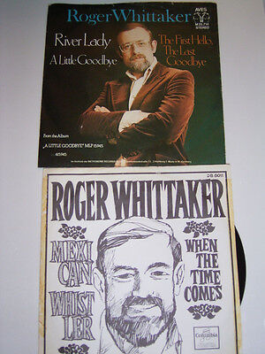 "2 x 7"" Roger Whittaker River Lady & Mexican Whistler (Dutch) # 2132"