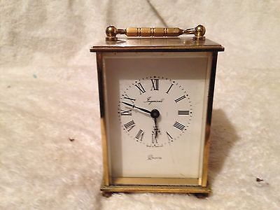 Small, Vintage Style, Brass Carriage Clock, Ingersoll