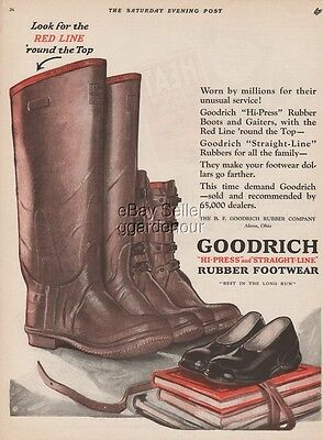 1923 B F Goodrich Rubber Footwear Boots Gaiters Akron OH Vintage 1920s Print Ad