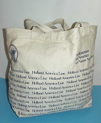 "Holland American Line Tote Bag ss Rotterdam ms Noordam ms Nieuw Amsterdam14""x16"""