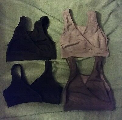 Women's Nursing bra lot Lamaze medium M black grey