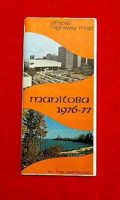 1976-77 Manitoba Official Highway Map golc