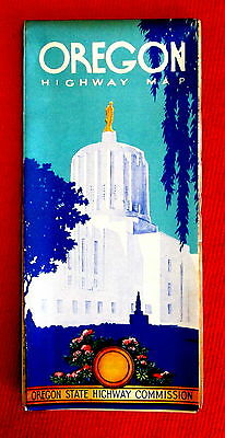 Oregon Official Highway Map 1953 t4c