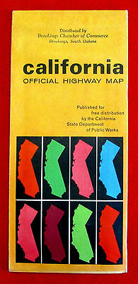 California Official Highway Map 1966 t4c