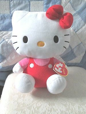 Ty beanie Hello kitty plush red bow plush new with tags 12 inch