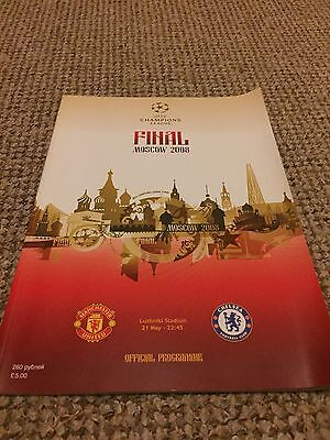 Champions League Final Programme 2008 Manchester United V Chelsea Good Condition