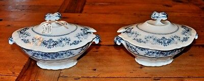 Pair of Antique Booths Daisy Pattern Sauce Tureens