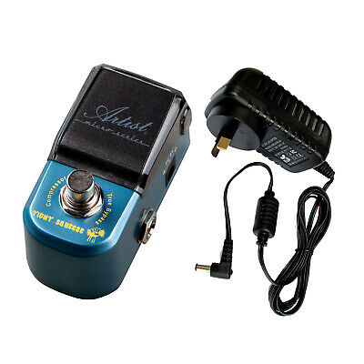 Artist MP108 Tight Squeeze Compressor Guitar Effects Pedal + 9V Supply - New