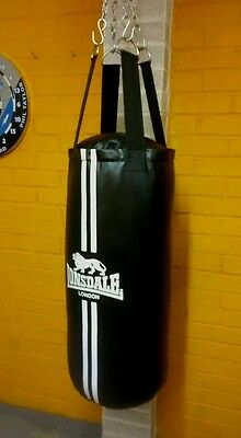 Lonsdale Contend Boxing set Punch Bag Gloves Hook Chain Martial Kit Accessories