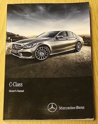 Mercedes C-Class W205 Saloon Owners Manual Handbook 2014-2016 Book
