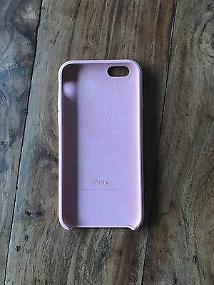 Genuine Apple Pink Silicon iPhone 6 6s Case Used Cover