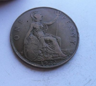 George V Penny, 1922, Good Condition.