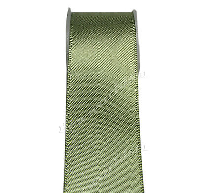 "6y 38mm 1 1/2"" Willow Green  Single Faced Satin Ribbon Premium Eco FREE PP"