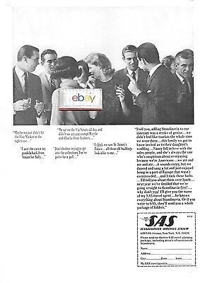 Sas Scandinavian Airlines System 1964 Cocktail Party Over Paying As Americans Ad