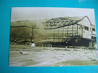 "BRISTOL ROVERS  STAND FIRE DAMAGE  1960s ?   6""x4""  Photo REPRINT"