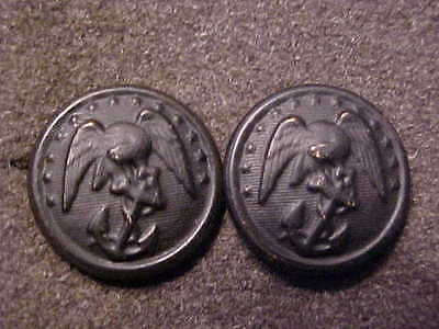 Rare Matching Pair Of Ww2 Usmc Visor Hat Side Chin Strap Buttons Marked B&s Mfg