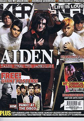 AIDEN / MY CHEMICAL ROMANCE / EVANESCENCE Kerrang no. 1123 Sep 2 2006