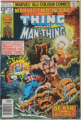 Marvel Two-in-One #43 The Thing Man-Thing Cosmic Cube 2-in-1
