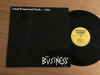 The Business...loud Proud And Punk...rare Uk First Issue Album Syndicate Syn Lp6