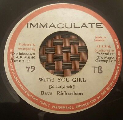 "Dave Richardson With You Girl Killer Roots 7"" Listen !"