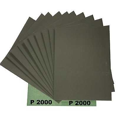 Carta abrasiva all'acqua Verde 10 Blatt P2000 per vernice auto 230x280mm