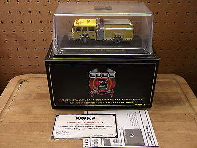 Chino Valley Medic 63 ALF Eagle Pumper Fire Truck Die Cast Code 3 Model 1/64