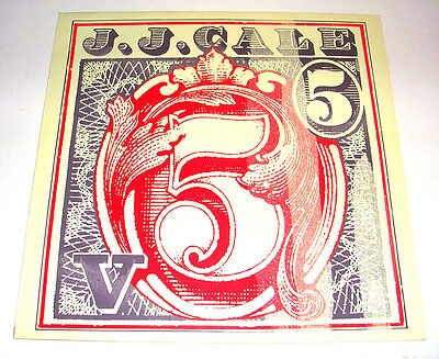 J J Cale '5' 1983 (Re-Issue Of 1979) Stereo Lp Ex/ex