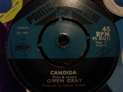 OWEN GRAY - candida / when will i find my way   *1971 PAMA SUPREME 7""