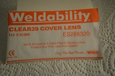 5 x  Clear CR39 Lens for Welding mask cover lens. 110x60mm