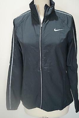 New W Tags: Grey Nike Zip Front Relfective Running Jacket Size S Ref Cp