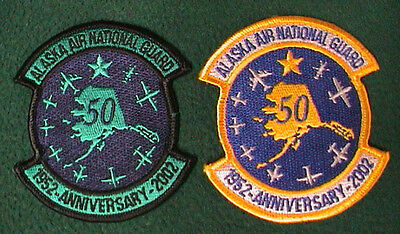 2 Alaska Air National Guard 50th Anniversary 2002 Patches