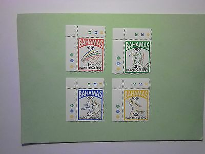 BAHAMAS: 1992 Barcelona Olympic Games, Spain 4values VFU Sg939/42
