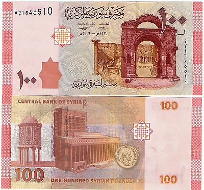 Syria 100 Pounds Banknote 2009 Issue Uncirculated P.113