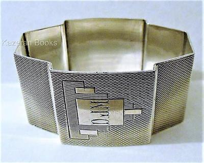 Vintage Art Deco Solid Sterling Silver Napkin Ring By Walker & Hall 1938