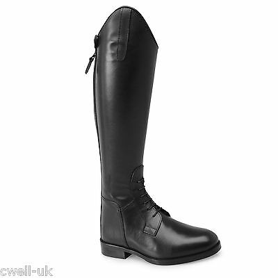 Norfolk Leather Field Boots Ladies Long Riding Boots Black UK 4 EURO 37 M CALF