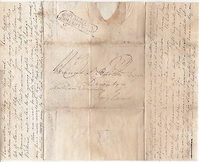 1828 India Letter Weymouth Clark E Burton At Cape Town To Brother In Daventry Uk