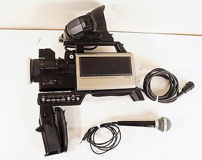 1982 JCPenney Video Camera 6x Zoom Lense Movie Recorder Microphone Vintage RARE!