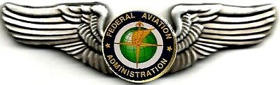 Classic FAA Pewter/Silver Finish USAF Style Private Pilot Wings