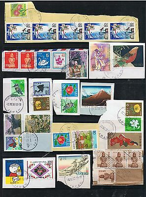 Selection Of Stamps From Japan On Paper(Postmark Interest?)