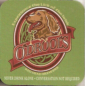 Irish Setter Set of 4 Rubber Coasters Made in US Recycled Materials O'Drool's