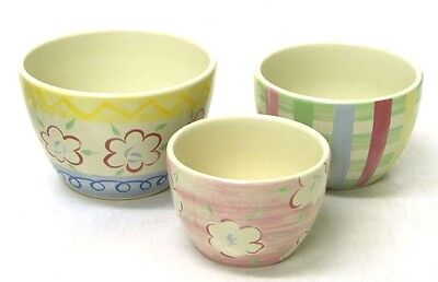 PASTEL Nested Bowls - Set of 3 New in Box LONGABERGER Pottery Mothers Day GIFT