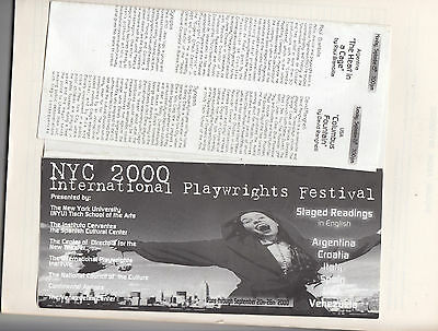 International Playwrights Festival New York City  BROCHURE  2000